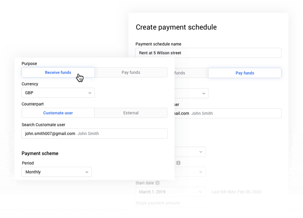 Create automated payment schedules
