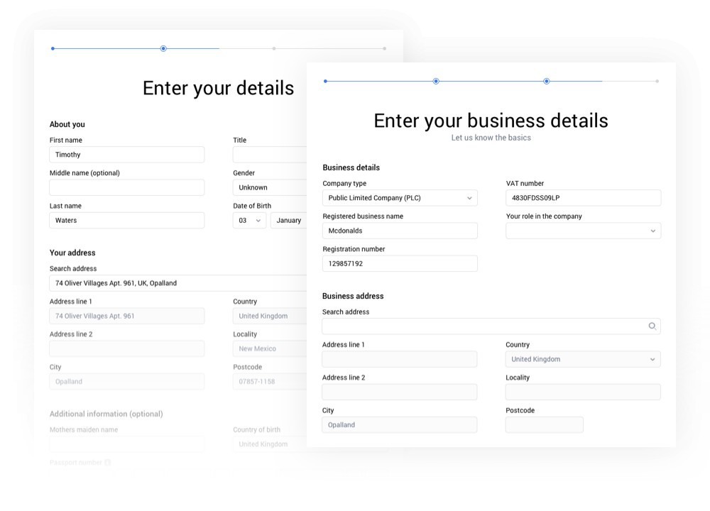Instant customer on-boarding and verification
